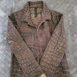 Giorgio Brato Snakeskin Pattern Leather Jacket